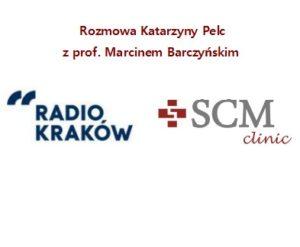 Logo Radio Kraków i SCM Clinic na białym tle